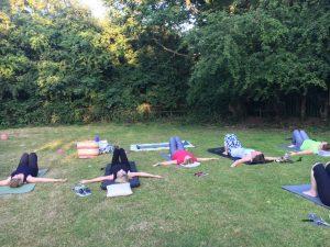 pilates outside